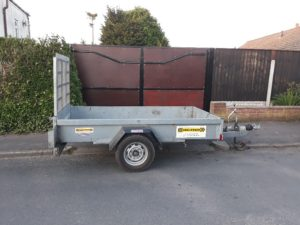 SOLD – Indespension 8 x 4 Single Axle 1300kg Trailer